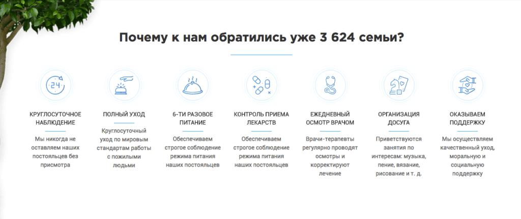 Разработка посадочной страницы для сети пансионатов